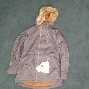 Burton waterproof denim skii jacket with tags